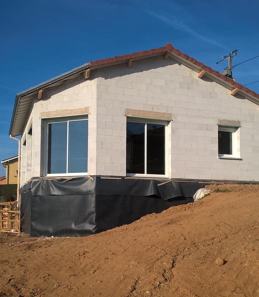 Cherblanc construction travaux ma onnerie couverture - Acces chantier maison individuelle ...